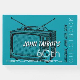 Vintages Fernseh60. Geburtstags-Party-Gast-Buch Gästebuch