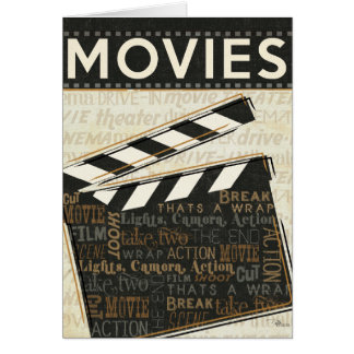 Vintages Film-Scharnierventil Karte