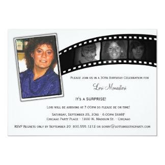 Vintages Film-Streifen-Überraschungs-Party-Foto 12,7 X 17,8 Cm Einladungskarte