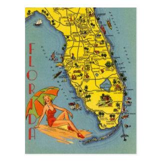 Vintages Florida, USA - Postkarte