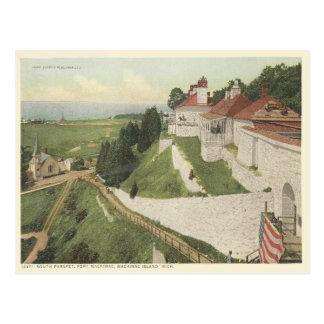 Vintages Fort Mackinac, Mackinac Insel Michigan Postkarte