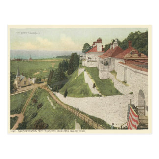 Vintages Fort Mackinac, Mackinac Insel Michigan Postkarten