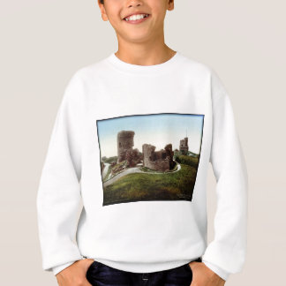 Vintages Foto Aberystwith Schloss-Wales Sweatshirt