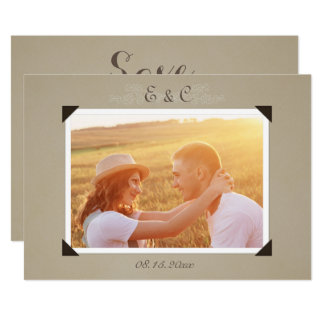 Vintages Foto-Album Save the Date 12,7 X 17,8 Cm Einladungskarte