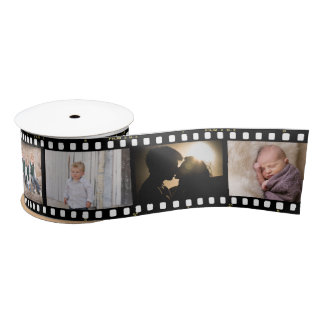 Vintages Fotografie-Filmnegativ, das 2 gestaltet Satinband