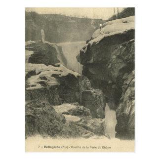 Vintages Frankreich, Bellgarde, Quelle der Rhônes Postkarte