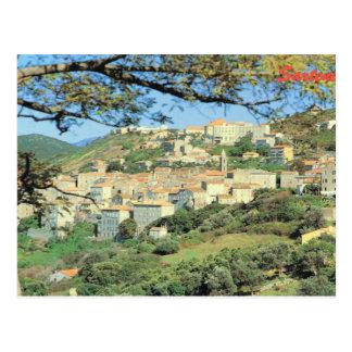 Vintages Frankreich Korsika, Sartene, Gipfelstadt Postkarten