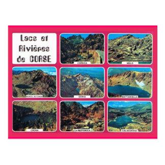 Vintages Frankreich Korsika, Seen und Flüsse Postkarten