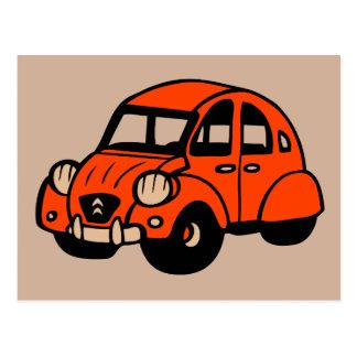 Vintages französisches Auto mit 2 Lebenslauf Postkarte