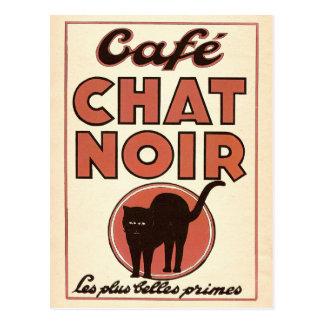 "Vintages französisches Plakat ""Café Chat noir "" Postkarten"