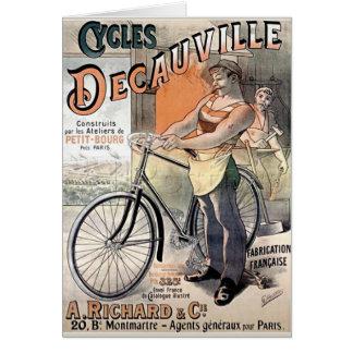 Vintages französisches Plakat Karte