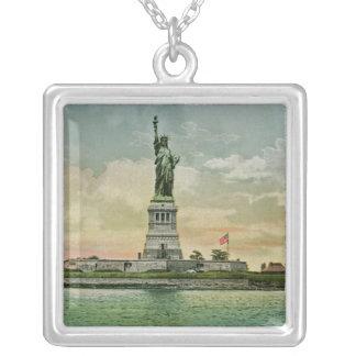 Vintages Freiheitsstatue, New- Yorkhafen Versilberte Kette