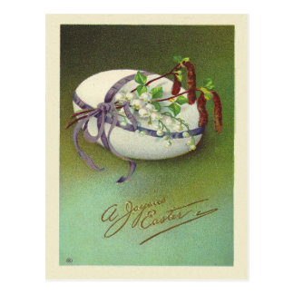 Vintages freudiges Ostern Postkarte