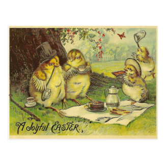 Vintages frohes Ostern Postkarte