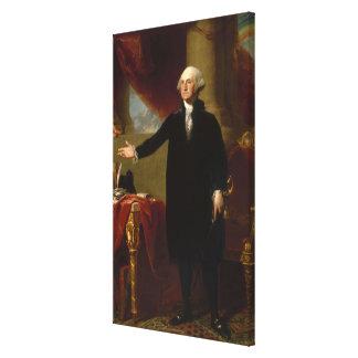 Vintages George- Washingtonporträt, das 2 malt Leinwanddruck
