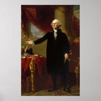 Vintages George- Washingtonporträt, das 2 malt Poster