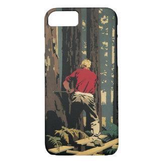 Vintages Geschäft, Holzfäller-Bauholz-Industrie iPhone 8/7 Hülle