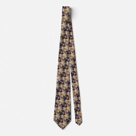 Vintages Geschäft, Mailman, der Post-Buchstaben Bedruckte Krawatte