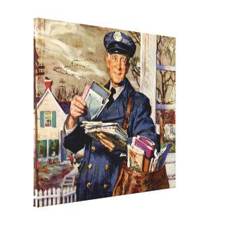 Vintages Geschäft, Mailman, der Post-Buchstaben Leinwanddruck