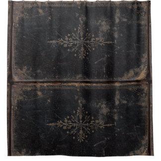 Vintages getragenes ledernes Buch Duschvorhang