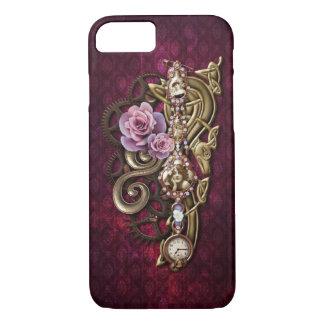 Vintages Girly Mit Blumensteampunk iPhone 7 Hülle