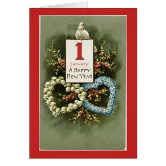 Vintages glückliches neues Jahr Karte