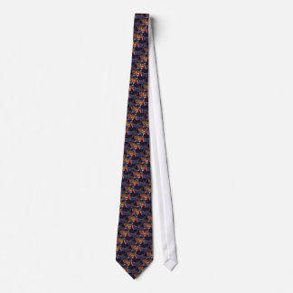 Vintages glückliches Silvester-Party mit Confetti Bedruckte Krawatte