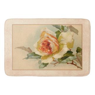 Vintages Gold und Korallen-Rose Badematte