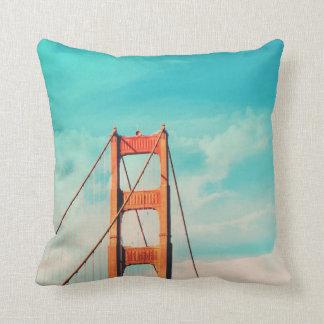 Vintages Golden Gate Brücke Throw-Kissen der Zierkissen