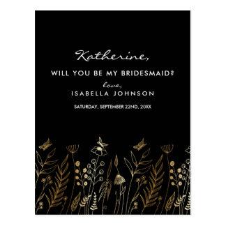 Vintages Goldfolien-Schwarzes sind- Sie meine Postkarte