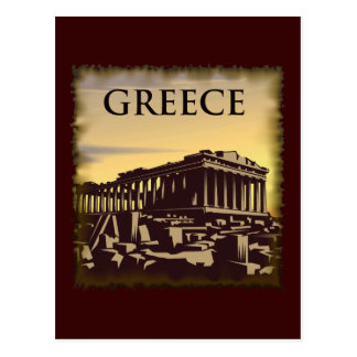 Vintages Griechenland Postkarte