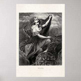 Vintages griechisches römisches altes poster