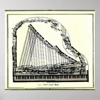 Vintages großartiges Klavier-Plakat Poster
