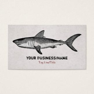 Vintages Haifisch-Geschäft oder persönliche Visitenkarte