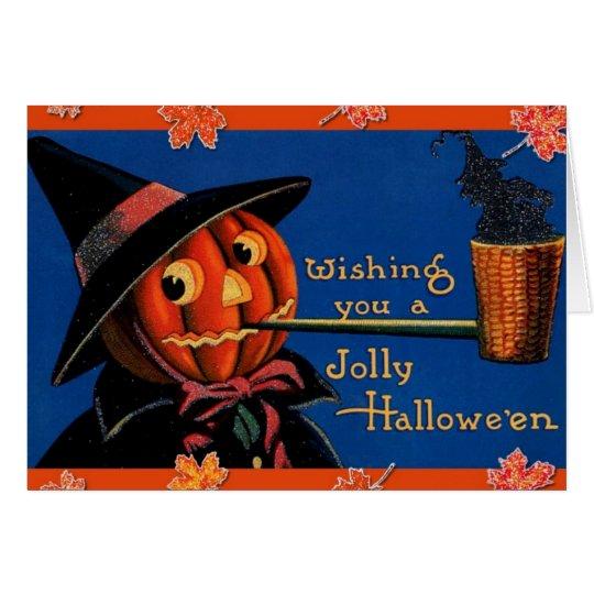 Vintages Halloween Grußkarte
