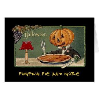 Vintages Halloween-Party laden mit blutigem Text Karte