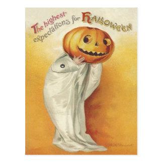 Vintages Halloween Postkarte