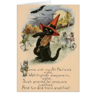 Vintages Halloween Pranks Gruß-Karte Karte