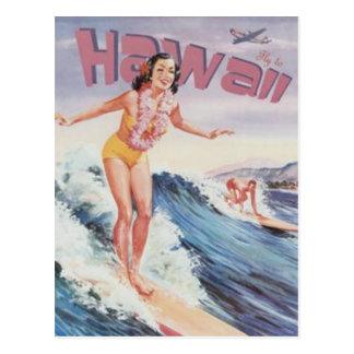 Vintages Hawaii, USA - Postkarte