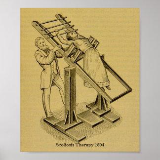 Vintages Heilungs-Skoliose-Therapie-Bild 1894 Poster