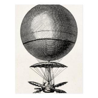 Vintages Heißluft-Ballon-Retro Luftschiff-alte Postkarten