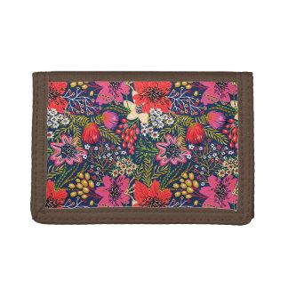 Vintages helles Blumenmuster-dreifachgefaltete