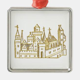 Vintages heraldisches Wappen-Imitat-Gold des Silbernes Ornament