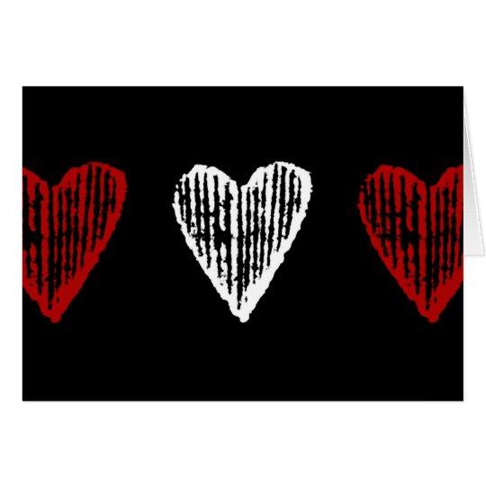 Vintages Herz Mitteilungskarte