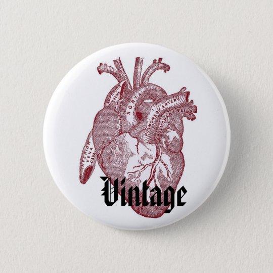 Vintages Herz Runder Button 5,1 Cm