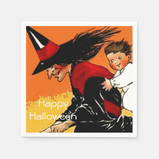Vintages Hexe-KinderHalloween-Party Serviette