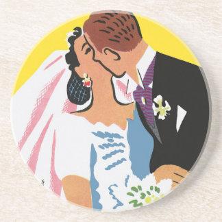 Vintages Hochzeits-, Braut-und Untersatz