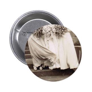 Vintages Hochzeits-Party Runder Button 5,1 Cm