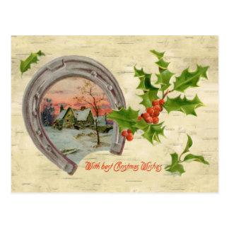 Vintages Hufeisenstechpalmen-Weihnachten Postkarte