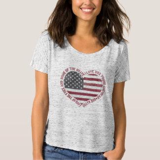 Vintages i-Liebe USA-Herz T-Shirt